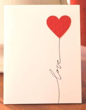 tarjetas de amor hechas a mano minimalistas