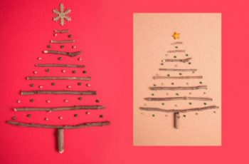tarjetas de navidad hechas a mano creativas con maderas