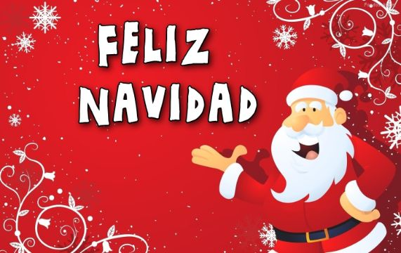 tarjetas de nochebuena y navidad con santa animado