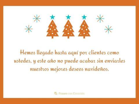 mensajes navideños cortos para clientes en negocios