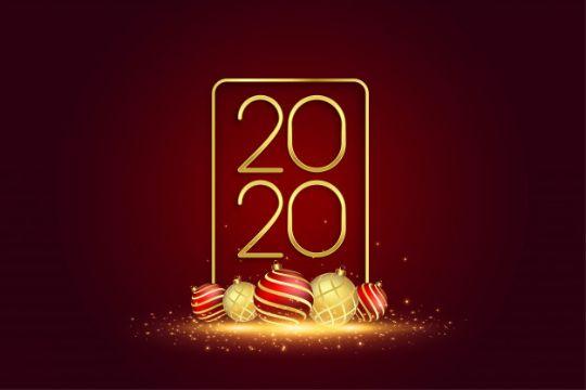 postales de año nuevo 2020 elegante