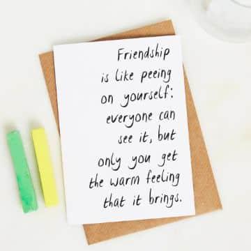 tarjetas de amistad para un amigo carta sencilla