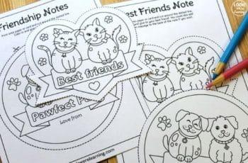 tarjetas de amistad para un amigo para imprimir y colorear