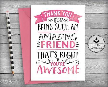 tarjetas de amistad para un amigo tipografias