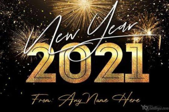 tarjetas de feliz 2021 para editar