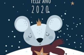 tarjetas de navidad y ano nuevo bonitas ilustraciones