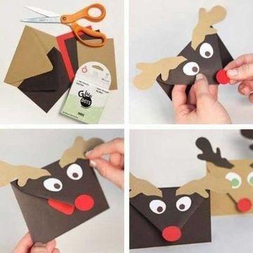 tarjetas de navidad y ano nuevo sencillas y sobres creativos