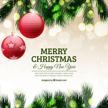 tarjetas de navidad y ano nuevo vectores