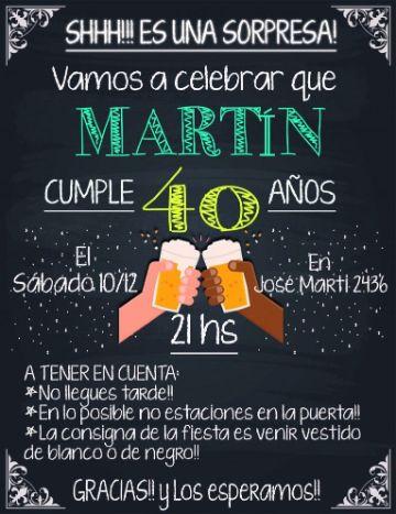 invitaciones para cumpleaños de adultos de fiesta sorpresa