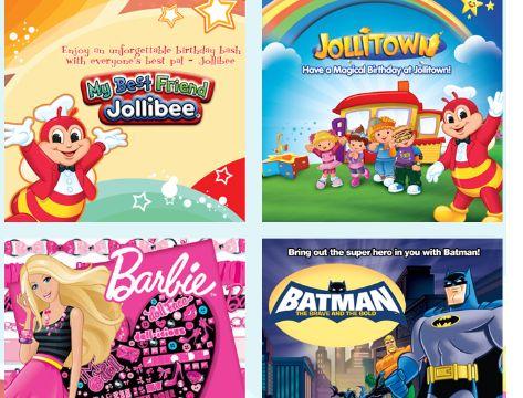 invitaciones para cumpleaños de niños de personajes