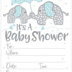 invitaciones para el baby shower para editar