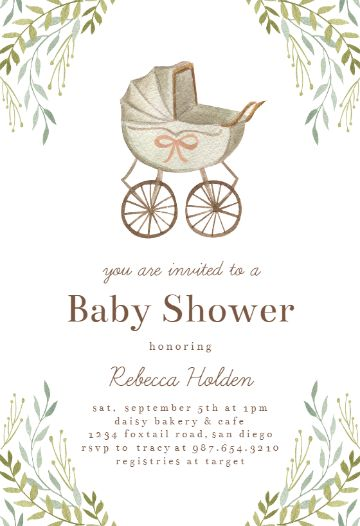 invitaciones para el baby shower vintage