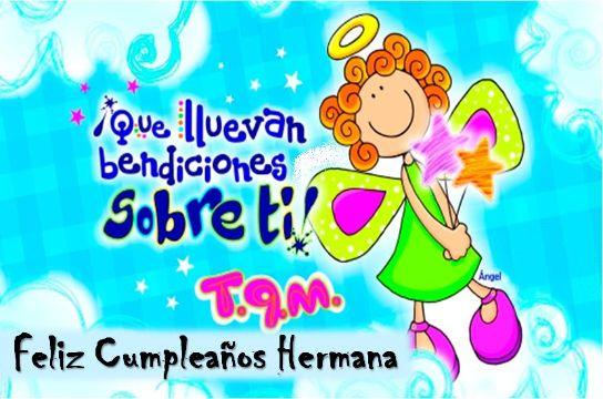 tarjeta de cumpleaños para mi hermana coloridas imagenes