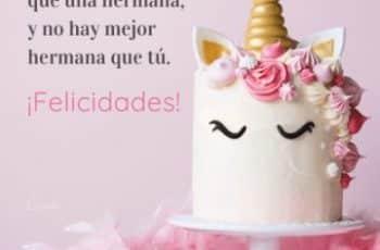 tarjeta de cumpleaños para mi hermana pasteles