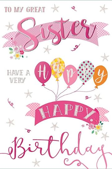 tarjetas de cumpleaños para hermana en ingles
