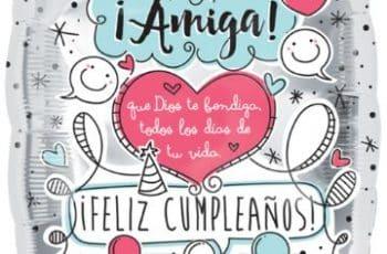 tarjetas de feliz cumpleaños para una amiga foto de globos