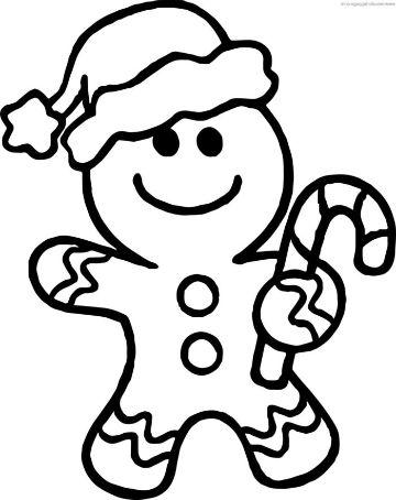 tarjetas para colorear de navidad galletas