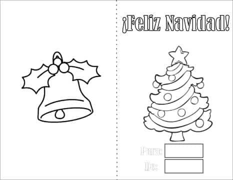 tarjetas para colorear de navidad para imprimir