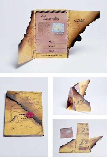 ejemplos de folletos creativos para viajar