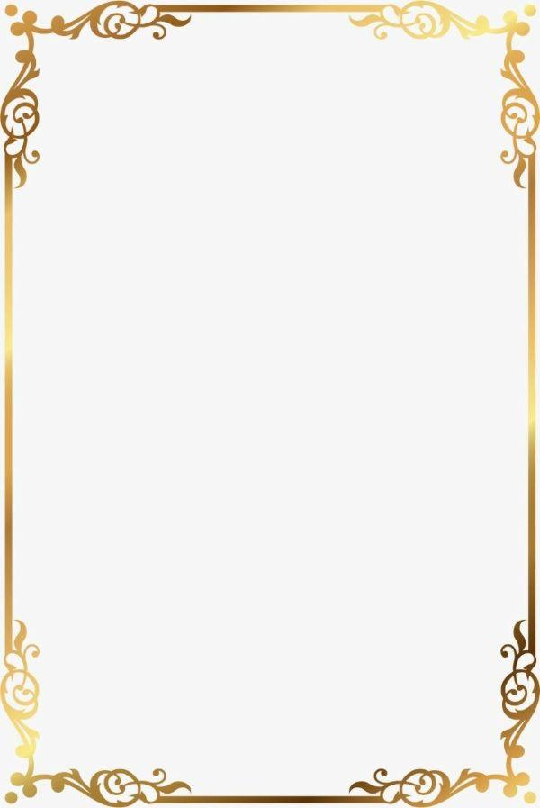 marcos para tarjetas de invitacion dorados