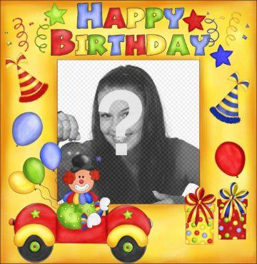 postales de feliz cumpleaños para agregar foto
