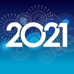 tarjetas de año nuevo 2021 fondos para editar