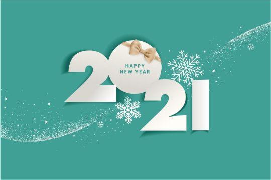 tarjetas de año nuevo 2021 tipografias originales