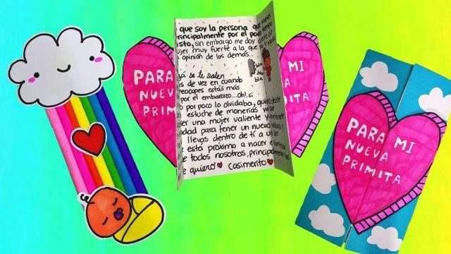 tarjetitas para amigas especiales carta manual