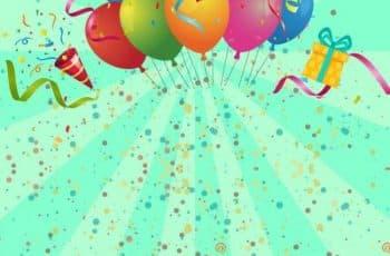 fondos para tarjetas de cumpleaños colorida