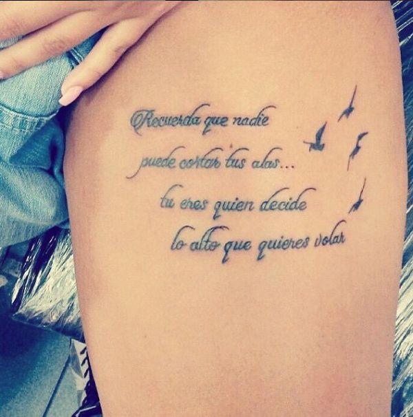 frases inspiradoras para mujeres formato tatuaje