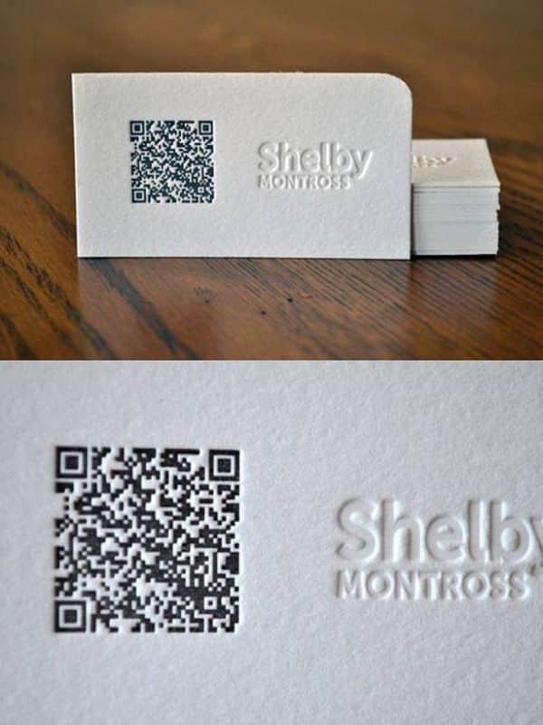 ideas de tarjetas personales con codigos QR