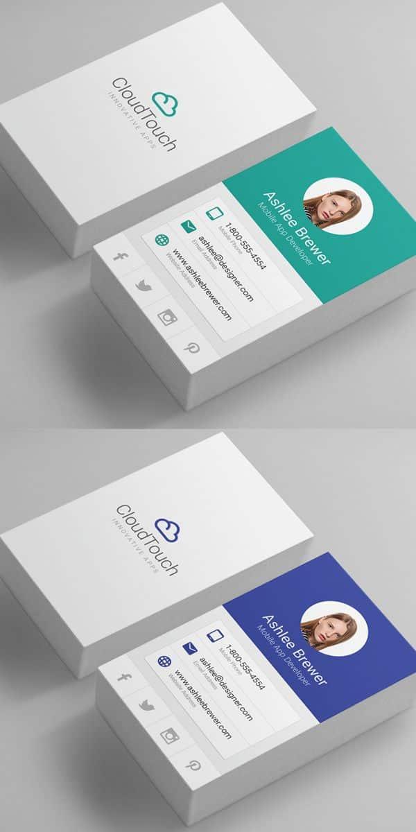 ideas de tarjetas personales información vertical