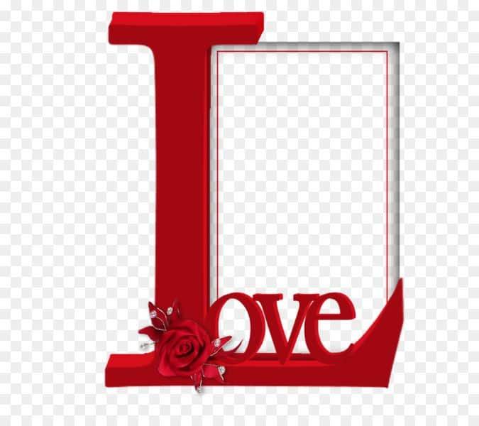 marcos para fotos de amor con letras