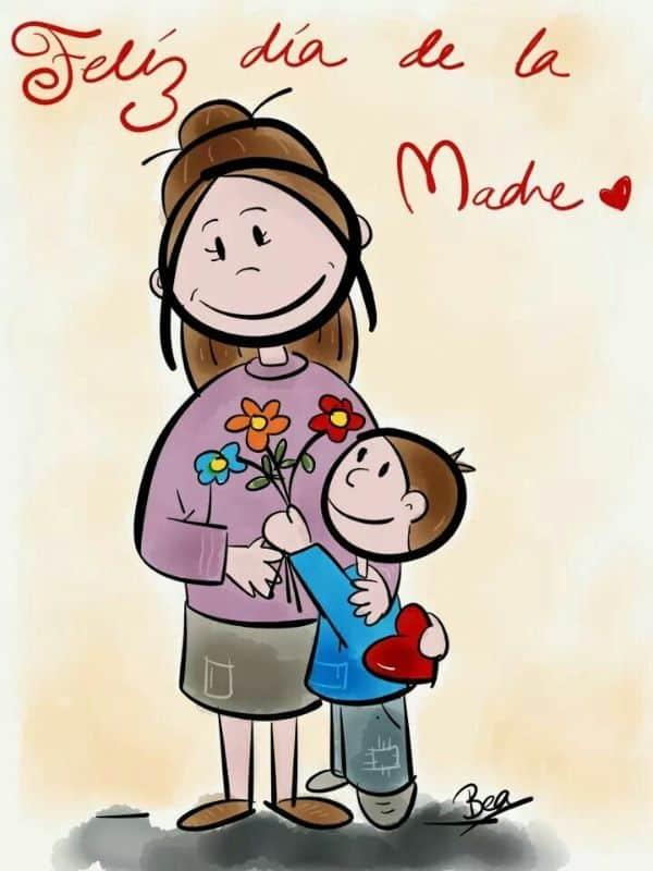 postales del dia de la madre dibujos