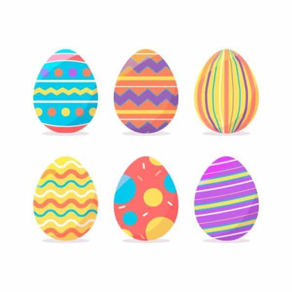 tarjetas de felices pascuas huevos para editar