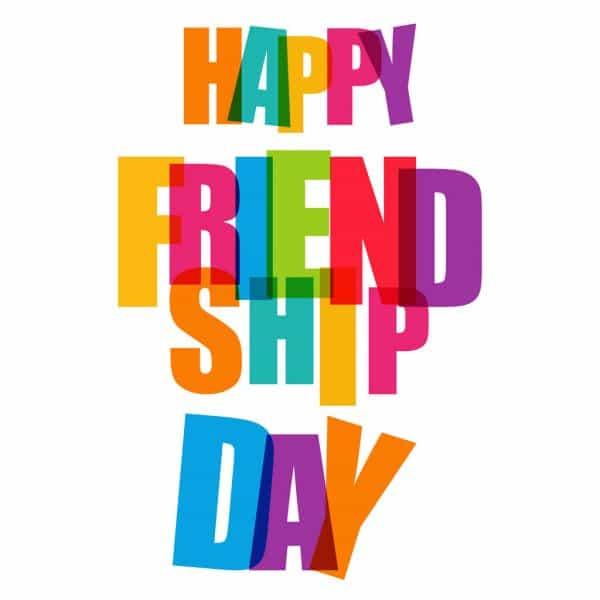 tarjetas de feliz dia de la amistad excelente tipografia