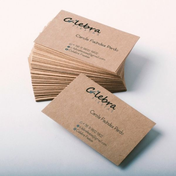 tarjetas de negocios ejemplos kraft