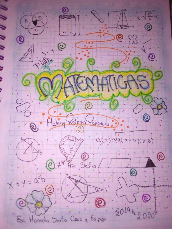 caratulas para matematicas secundaria divertida