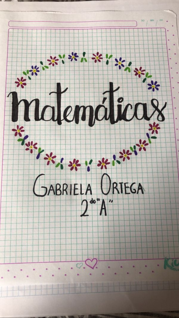 caratulas para matematicas secundaria letras dibujadas