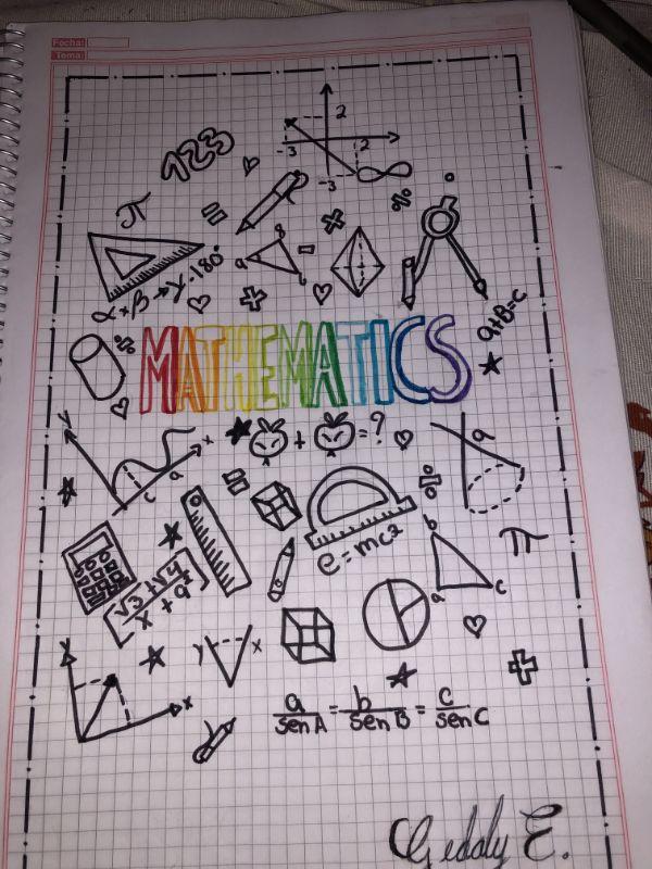 caratulas para matematicas secundaria muchos simbolos