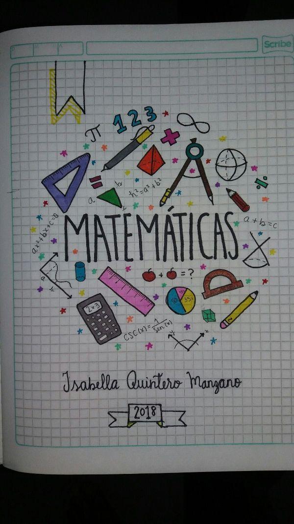 diseño para caratulas de cuadernos creativa