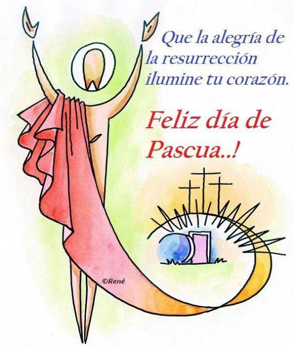 feliz pascua de resurrección 2020 ilustracion original