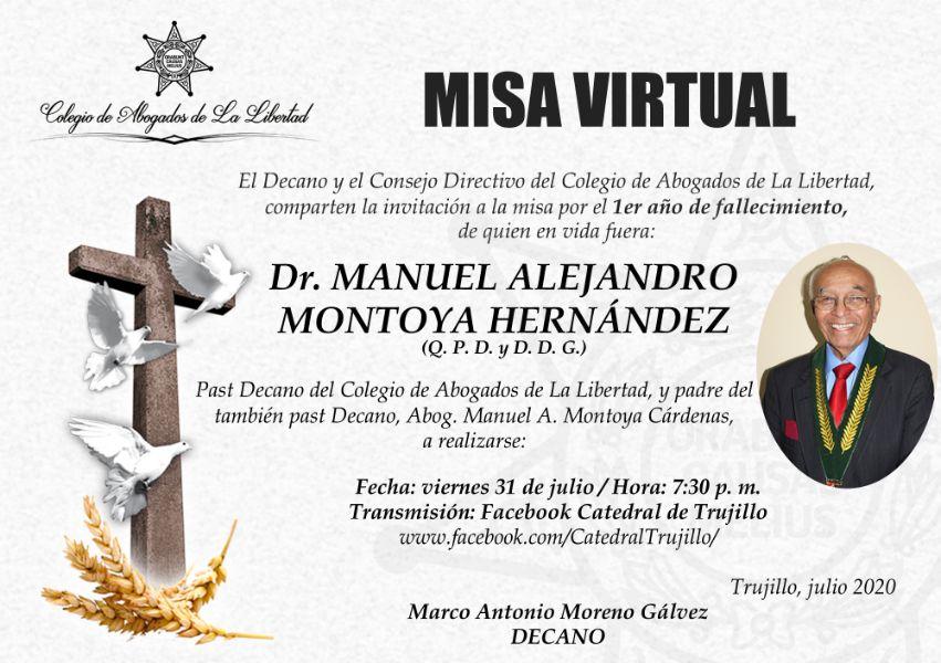 invitacion de misa virtual ejemplo