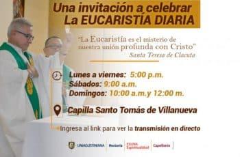 invitacion de misa virtual textos definidos