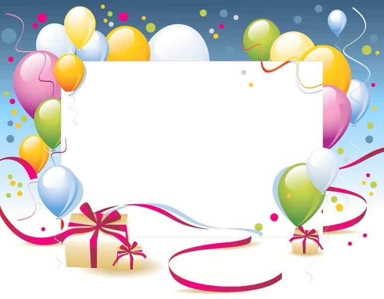 marcos para cartas de cumpleaños para foto