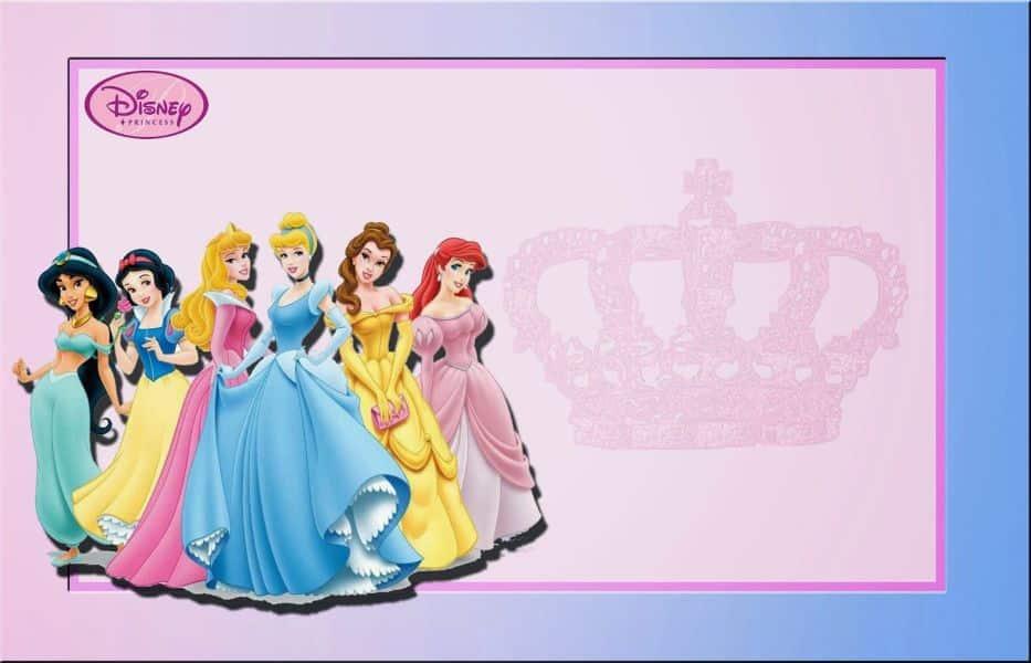 marcos para cartas de cumpleaños princesas
