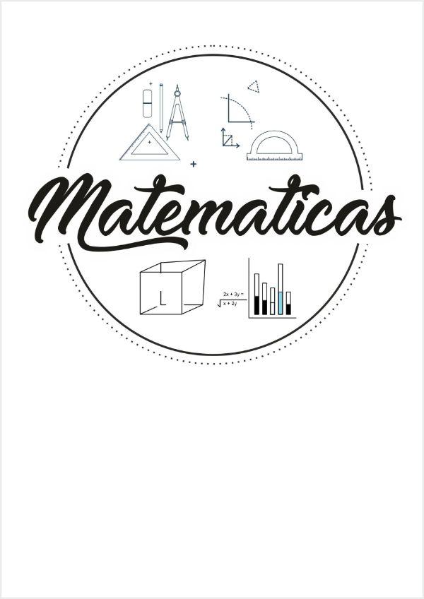 portadas para matematicas faciles imprimir y colorear