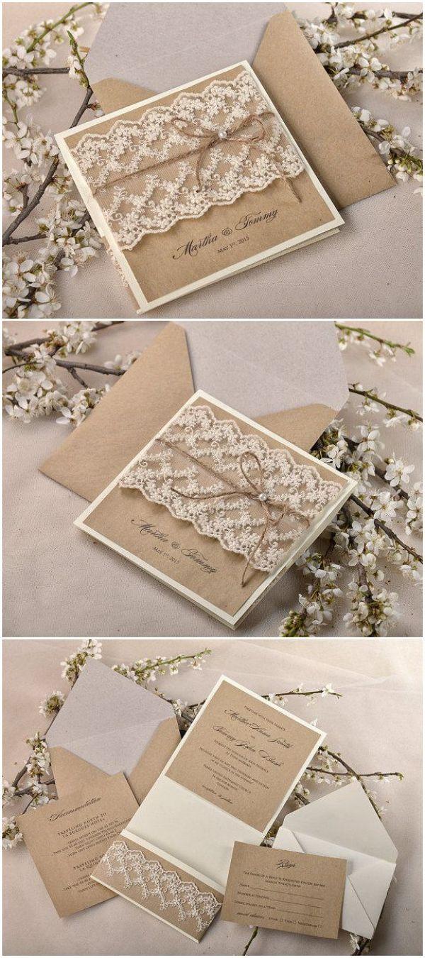 tarjetas de invitacion para matrimonio rusticas