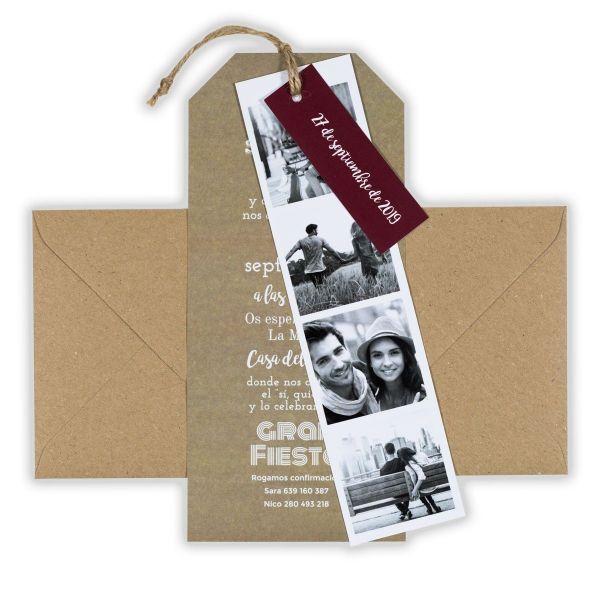 tarjetas de invitacion para matrimonio sencillas con fotos