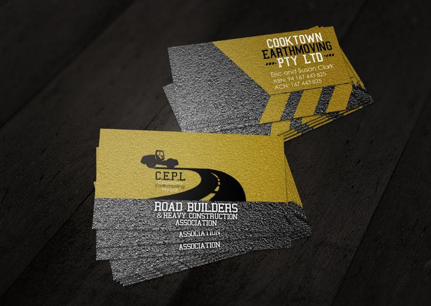 tarjetas de presentacion de construccion con texturas